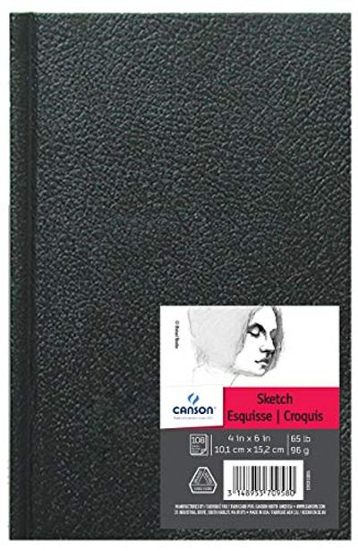 Canson Artist Series Sketch Book Paper Pad, for Pencil and Charcoal, Acid Free, Hardbound, 65 Pound, 4 x 6 Inch, 100 Sheets $12.56 (Reg $15.57)