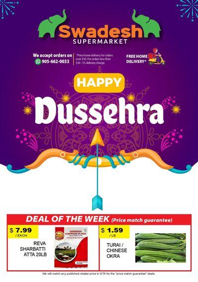Swadesh Supermarket Flyer October 14 to 20