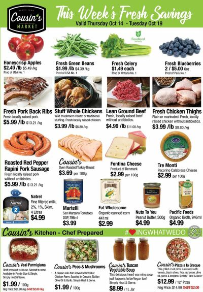 Cousin's Market Flyer October 14 to 19
