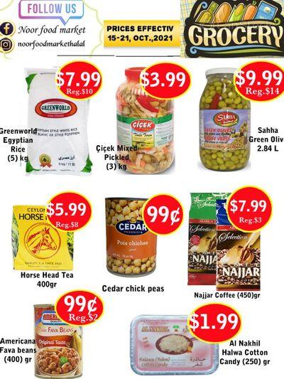 Noor Food Market Flyer October 15 to 21