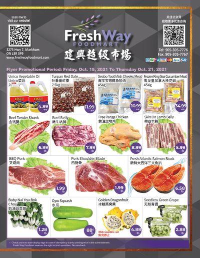 FreshWay Foodmart Flyer October 15 to 21