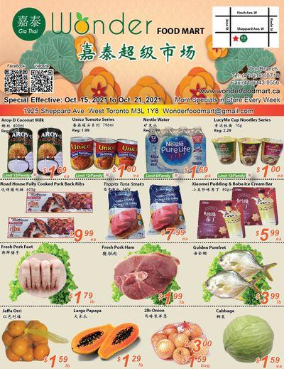 Wonder Food Mart Flyer October 15 to 21