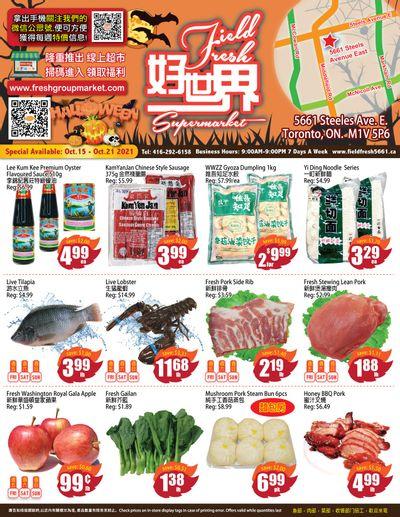 Field Fresh Supermarket Flyer October 15 to 21