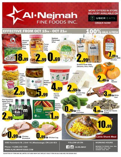 Alnejmah Fine Foods Inc. Flyer October 15 to 21