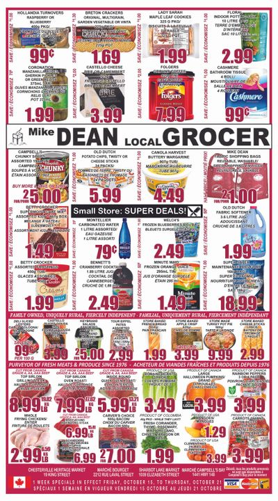 Mike Dean Local Grocer Flyer October 15 to 21