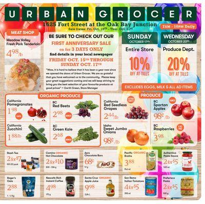 Urban Grocer Flyer October 15 to 21