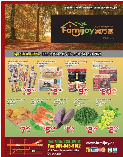 Famijoy Supermarket Flyer October 15 to 21