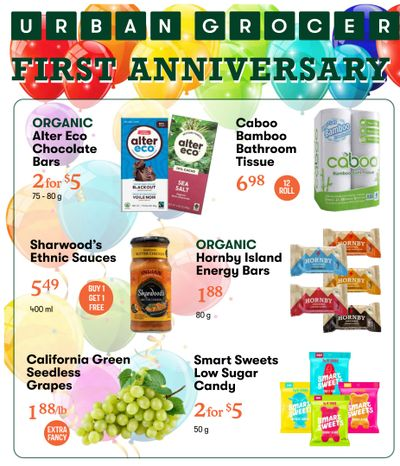 Urban Grocer 3-Day Sale Flyer October 15 to 17