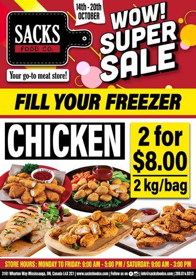 Sacks Food Co. Flyer October 14 to 20