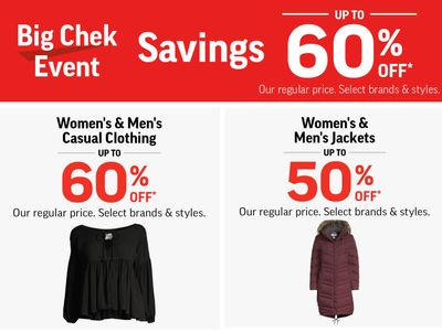 Sport Chek Canada Big Chek Event: Savings Up to 60% Off