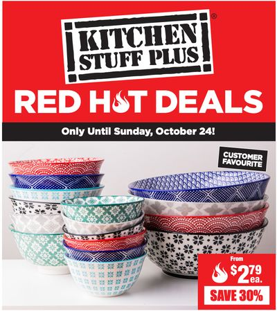 Kitchen Stuff Plus Canada Red Hot Deals: Save 40% on 16 Pc. Plato Porcelain Dinnerware Set + More Offers