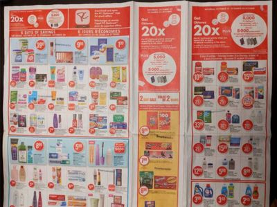 Shoppers Drug Mart Canada: Get 20x The Points This Saturday + 5,000 Points When You Use A PC Financial Card
