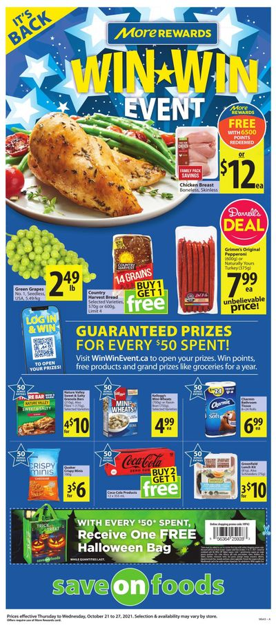 Save on Foods (BC) Flyer October 21 to 27