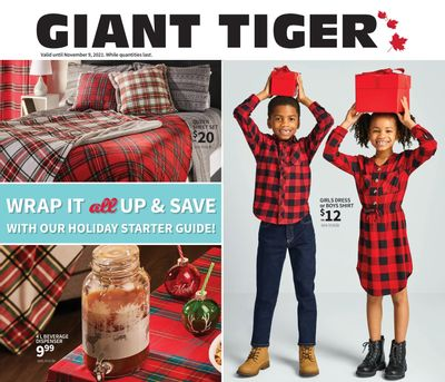 Giant Tiger Wrap it all Up and Save Flyer October 20 to November 9
