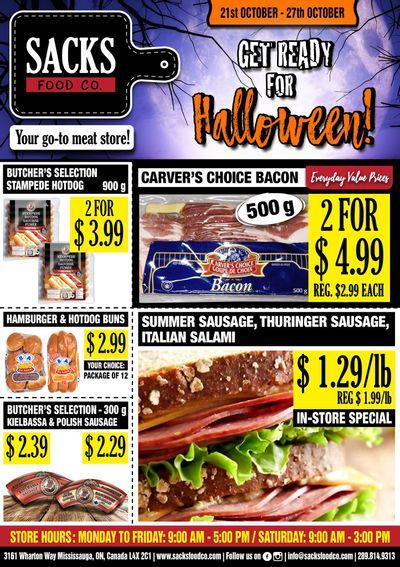 Sacks Food Co. Flyer October 21 to 27