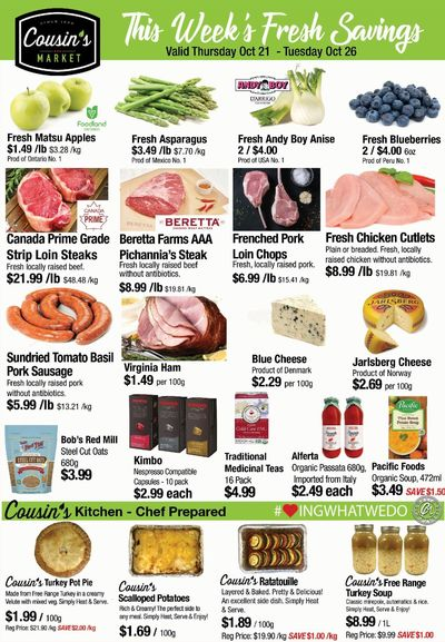 Cousin's Market Flyer October 21 to 26