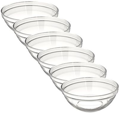 Duralex Made in France LYS Stackable Glass Bowl (Set of 6), 1.5 Quart, Clear $27.97 (Reg $34.97)