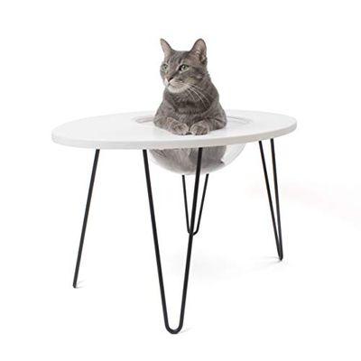 Primetime Petz Hauspanther Nestegg - Raised Cat Bed & Side Table, White $66.93 (Reg $133.99)