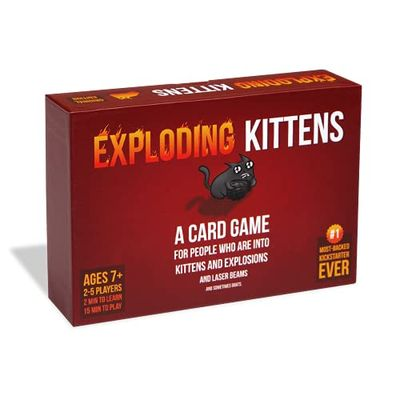 Exploding Kittens LLC - A Russian Roulette Card Game, Easy Family-Friendly Party Games - Card Games for Adults, Teens & Kids - 2-5 Players (Model number: EKG-ORG1-1) $16.97 (Reg $24.99)