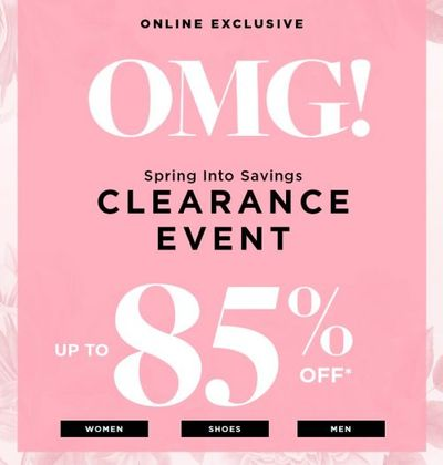 Le Chateau Canada Deals: Save Up to 85% OFF Clearance + Up to 50% OFF Sale