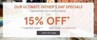 Rockport Canada Father's Day Deals: Save 15% OFF E-Gift Cards + Up to 70% OFF Sale + Men's Malcolm $89.99