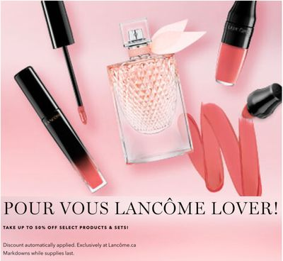 Lancôme Canada Summer Sale:Save up to 50% Off Select Products & Sets+ FREE Shipping!