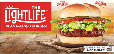 Harvey's Canada NEWLightlife Plant-Based Burger
