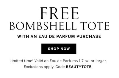 Free Bombshell Tote with an Eau De Parfum Purchase