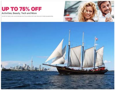 Groupon Canada Sale: Save up to 75% off on Activities, Beauty, Tech + Costco One-Year Gold Star Membership Packagefor $60