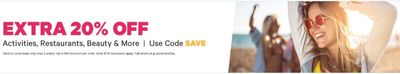 Groupon Canada Deals: Save an EXTRA 20% Off Activities, Restaurants, Beauty & More With Coupon Code