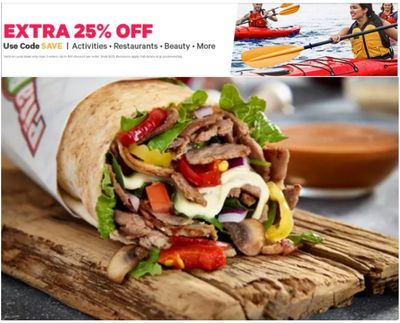 Groupon Canada Deals: Save an EXTRA 25% Off Activities, Restaurants, Beauty & More With Coupon Code