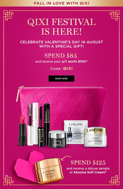 Lancome Canada Promotions: FREE 7-Pc. Gift Set with $85 Purchase + Extra FREE Absolue Soft Cream with $125 Purchase